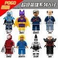 8 unids/lote Super Heroes Figuras Comisionado Gordon Alfred Kabuki Cnins Mr. Freeze Zebra Hombre Urraca Bloques de Construcción de Juguetes de Los Niños