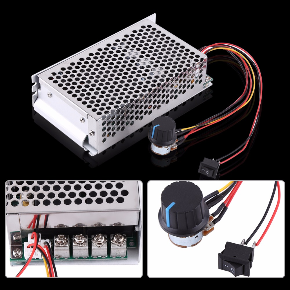 10-50V 100A 5000W DC Motor Speed Regulator Motor Speed Control Controller PWM Control Switch Governor maitech ccm5d digital dc motor speed controller pwm stepless speed control switch black
