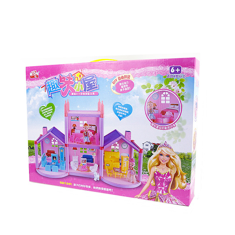 Sylvanian-Families-House-Princess-Dollhouse-Diy-Villa-Castle-With-Furnitures-Simulation-Dream-Girl-Toy-House-for