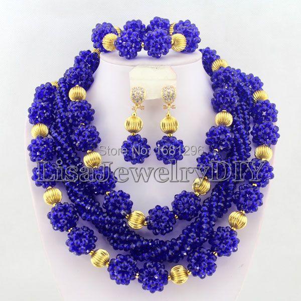 Fashion Crystal Ball Costume Jewellery Nigerian Wedding African Beads Jewelry Set     HD0588Fashion Crystal Ball Costume Jewellery Nigerian Wedding African Beads Jewelry Set     HD0588