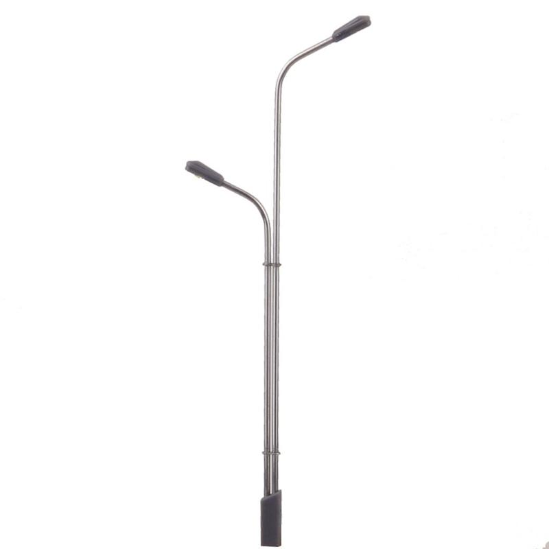 Licht & Beleuchtung Streng 10 Teile/los 1/150 Modell Metall Straßen Lampe Modellbau Led-leuchten Modell Spielzeug Eisenbahn Straße Beleuchtung Mit Einzel-oder Dual Kopf Elegant Im Stil