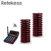 Téléavertisseur de Restaurant RETEKESS 999 canaux système de mise en file d'attente sans fil téléavertisseurs d'appel de file d'attente de Table pour le magasin de Bar de café de restauration rapide