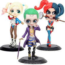 Q posket Harley Quinn the Joker PVC Action Figures Qposket Suicide Squad Cartoon Anime Figurines Collectible Dolls Kids Toys care bears belly badge wonderheart miniatures statue pvc action figures anime figurines classic collectibles dolls kids toys