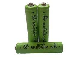 10 шт AAA 1800 mAh 1,2 V аккумуляторная батарея Ni-MH 1,2 V аккумуляторная батарея 3A