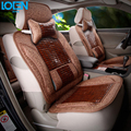 High quality Summer Bamboo Universal Car Seat cover Front seat cushion with headrest and lumbar support  for audi bmw vw ford