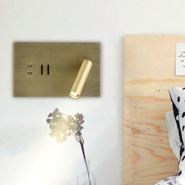 Zerouno Dual USB Wand Licht Wandlampen Schlafzimmer Lampe Leuchten 5V 2A Schnelle Lade Smartphone Ladegerät Wand Licht lampe Dekor