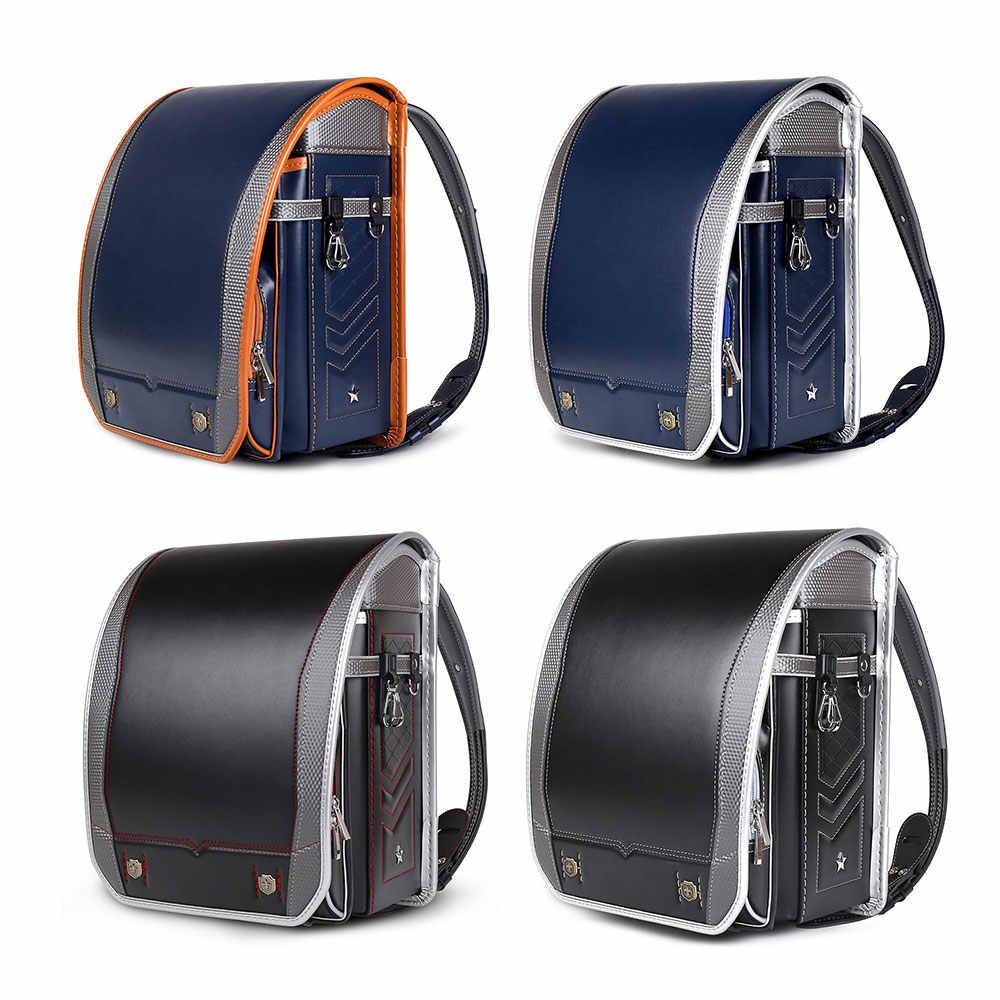 Кулоновские детские школьные ранцы для мальчиков и обувь для девочек PU Randoseru японский ортопедический рюкзак Mochila Infantil мальчиков детские сумки