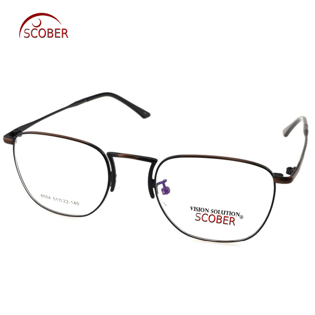 SCOBER= Titanium Alloy Retro Bronze Eyeglasses Frame Optical Custom ...
