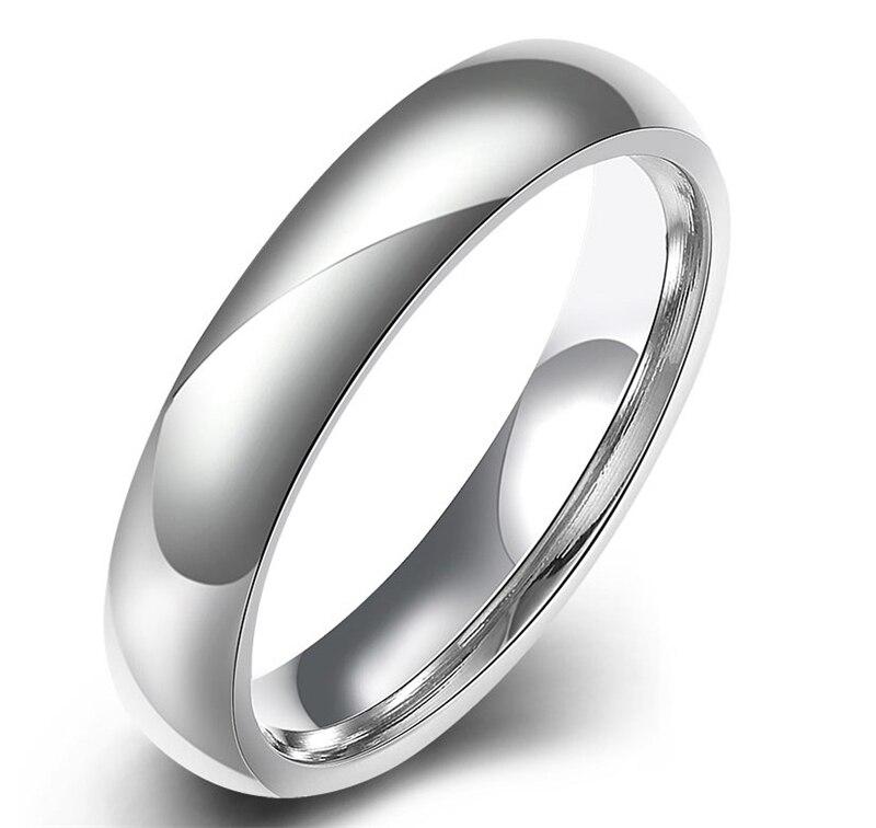 fashion stainless steel rings simple design men wedding rings women wedding engagement ring stainless steel - Mens Designer Wedding Rings