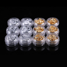 Nail art Tinfoil   Nail art Accessories Crystal Nail A light therapy nail Gold and silver foil Phone Cosmetology diy jewelry
