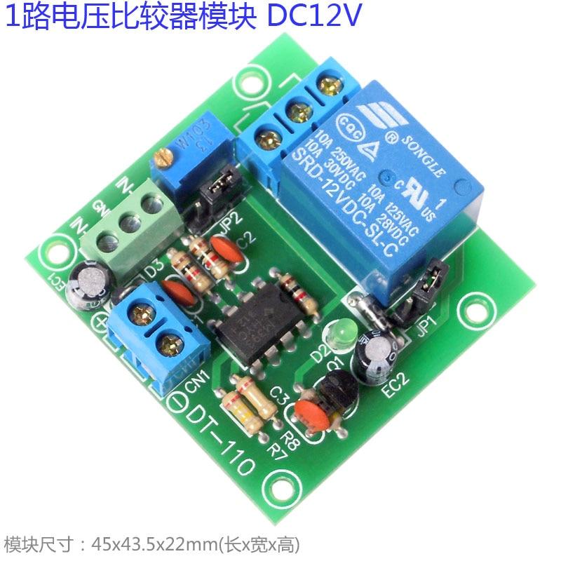 1 Road Voltage Comparator Module Voltage Comparator Voltage Comparison IC Lm393n Cable Winder     - title=