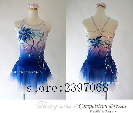 Синий Фигурное катание Платья для женщин Обувь для девочек Катание на коньках платье дорого Катание на коньках платье Для женщин конкурс ка