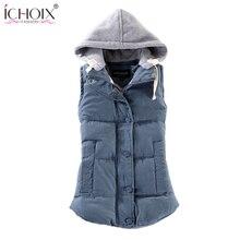 2017 Autumn Winter Vest Coat For Women Parka Thick Plus Size 6XL Outwear Short Slim Cotton-padded Jackets Zipper Warm Coats