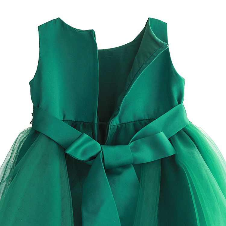 967f638091a86 Baby Girls Green Beading Dress 2018 Kids Evening Dress Children Princess  Dresses For Party And Wedding 4-9T