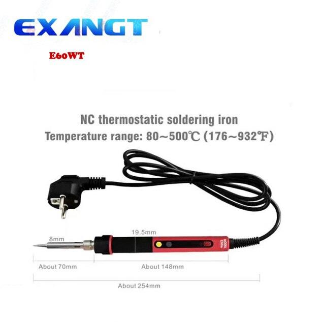 CXG E60W UE NC termostato Digital LCD Ajustável Ferro De Solda Elétrica De Solda Elétrica Punho de Ferro Conjunto Kit de Reparo de Soldagem