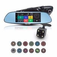 7 Car DVR Camera 3G Android GPS Navigation HD Mirror Recorder 1080P Automobile DVR Mirror Dash