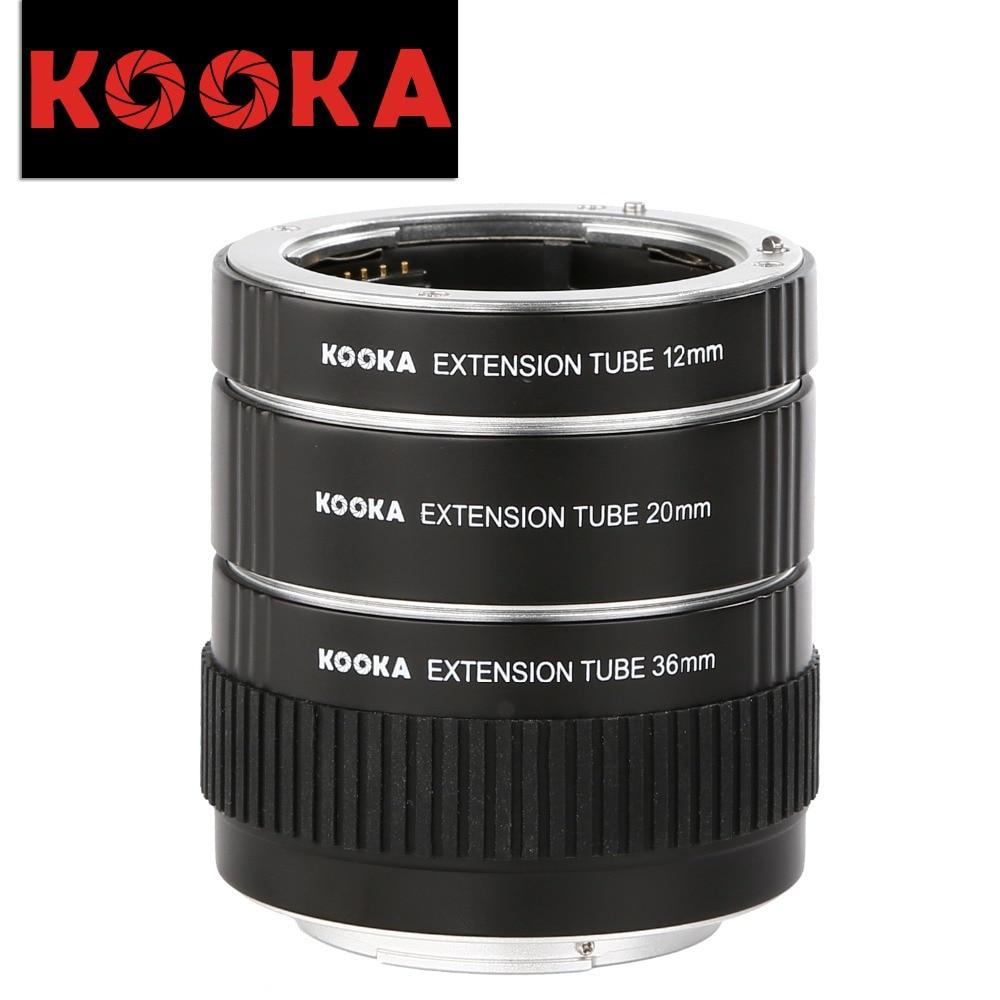 KOOKA KK-S68A Aluminium Alloy Extension Tube TTL Exposure Close-up Image for Sony A-Mount Cameras (12mm 20mm 36mm) macro extension tube for sony e mount ac ms silver grey