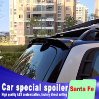 high quality ABS material rear window roof spoiler for hyundai santa fe 2005 2006 2007 2008 2009 by primer or any color paint