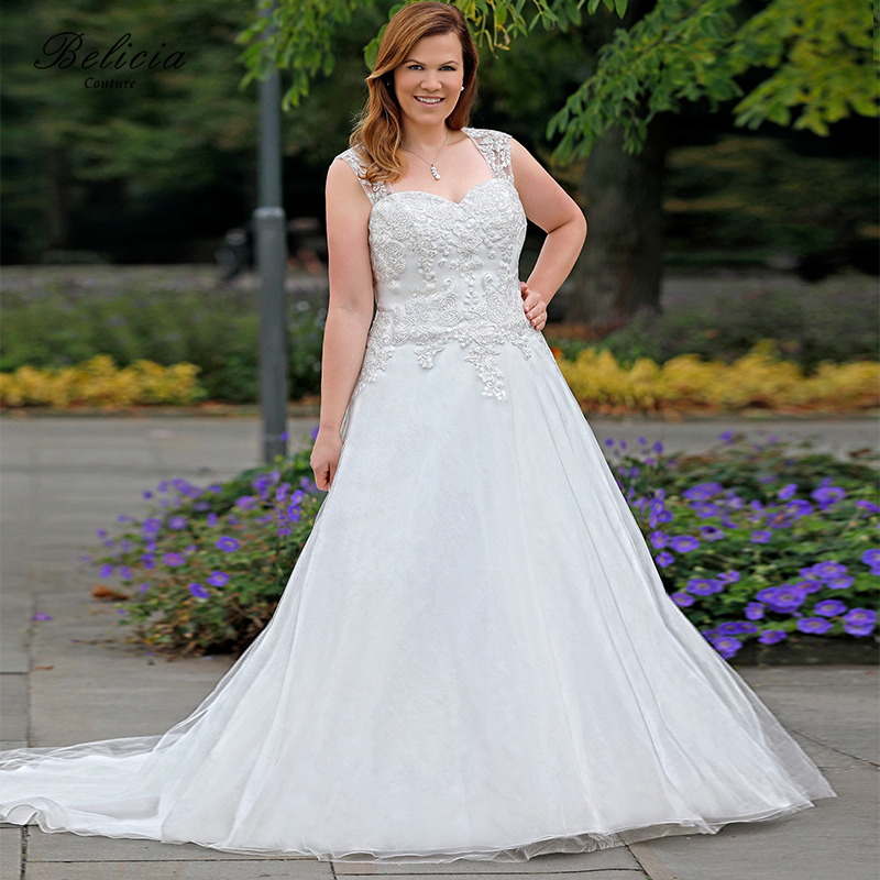 Couture Designer Wedding Gowns: Belicia Couture Women Plus Size Wedding Dress Sweetheart