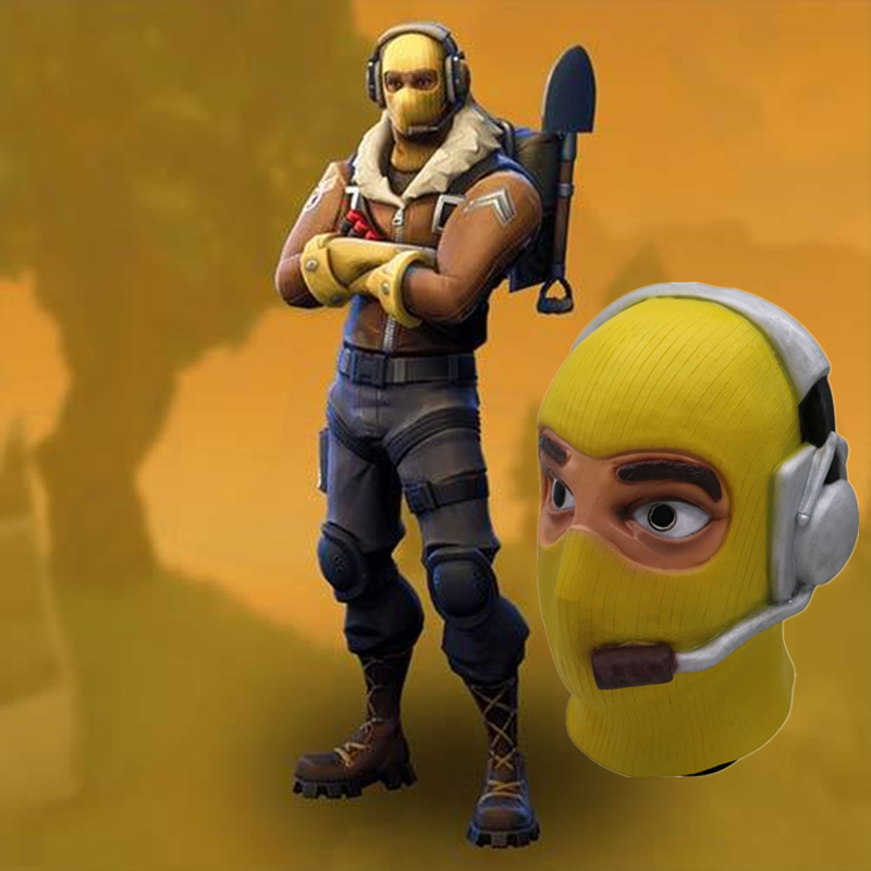 Fortniter Latex Mask Fortress Night Game Battle Royale Cosplay Fortnited Raptor Pilot Skin Mask Fortnight Raptor Pilot Ma Helmet Spare No Cost At Any Cost Costumes & Accessories