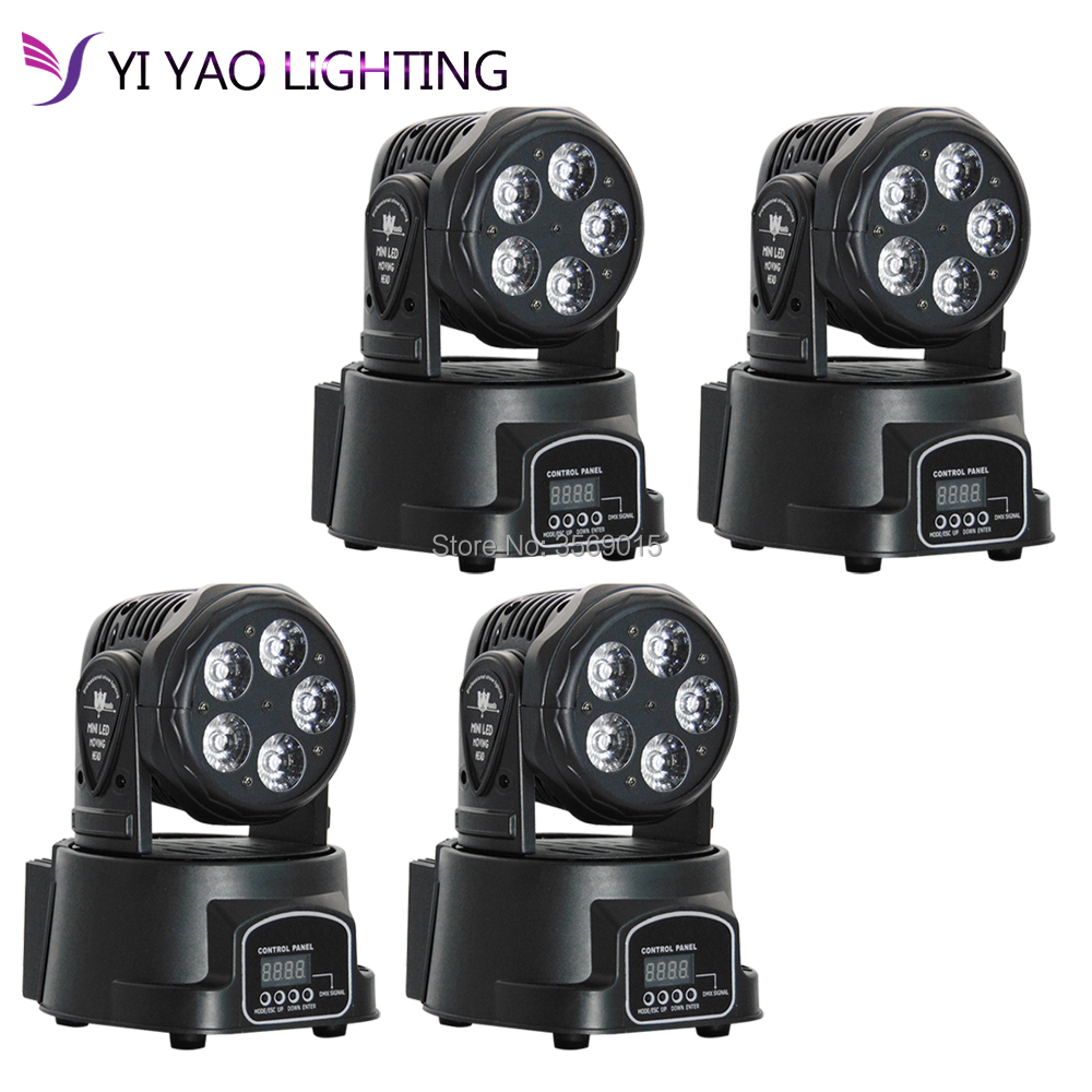 4pcs/lot Factory full color RGBWA UV 6in1 moving head 5x15W led DMX dj stage light4pcs/lot Factory full color RGBWA UV 6in1 moving head 5x15W led DMX dj stage light