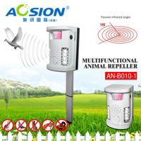 Garden Tools Aosion Battery Operated Electronic Dog Cat Fox Repeller PIR Ultrasonic Repel Dogs Birds