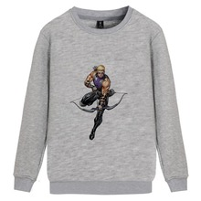 Marvel Comic Hawkeye College O-NECK Cotton Sweatshirts leisure Winter Unisex Sweatshirt A193291