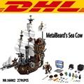 2017 16002 2791 Unids Vaca Marina del Barco Pirata MetalBeard Kits de Edificio Modelo Bloques Juguetes Para Niños Regalo Compatible Con 70810
