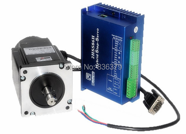 86J18156EC-1000+2HSS86H Closed loop stepping servo motor system 12N.m Nema 34 Hybird closed loop 2-phase stepper motor whitaker h halas j