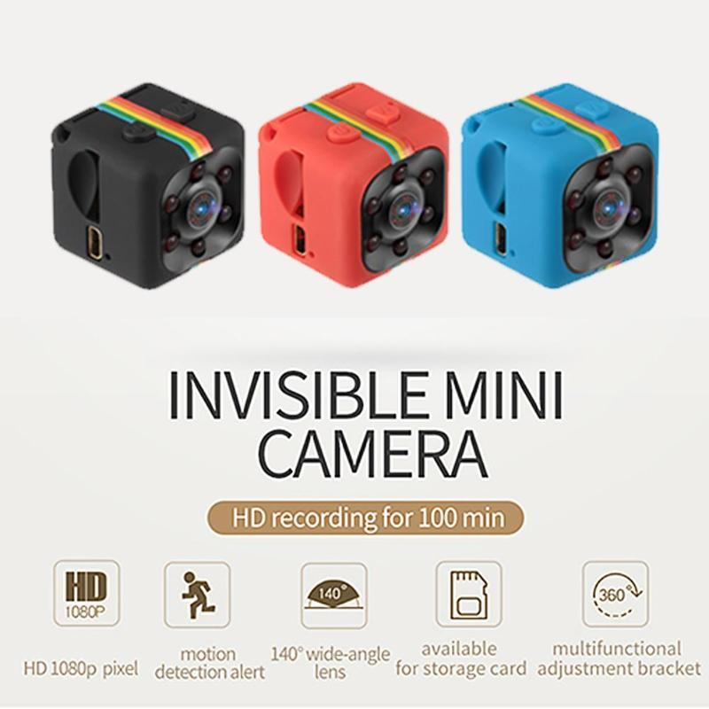 SQ11 Mini caméscope 1080P sport mini caméra DV DVR Vision nocturne moniteur micro petite caméra enregistreur vidéo flic poche cam sq13