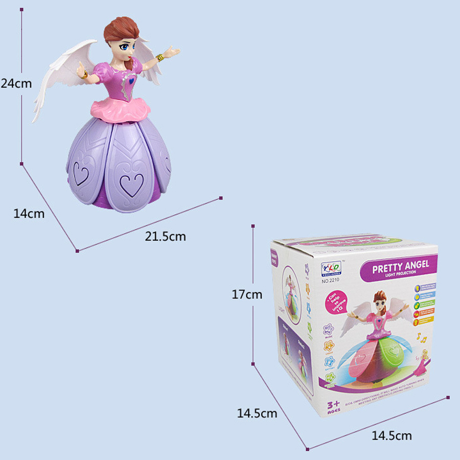 Toys for Girls 2 3 4 5 6 7 8 9 Year Old Kids Dancing Singing Fairy Doll Light Up