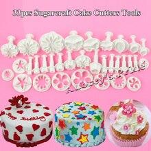 33 шт. выпечка десерт Фрезы Инструменты сахарные украшения торта формы Fondant Обледенение Плунжерные