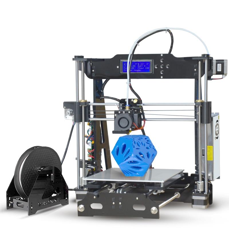 impressora 3D printer prusa i3 P802E cheap 3d printers 220*220*210 printing size imprimante diy kit Acrylic 3d printer frame high precision desktop 3d printer kits diy self assembly acrylic frame impresora impressora cheap 3d printers