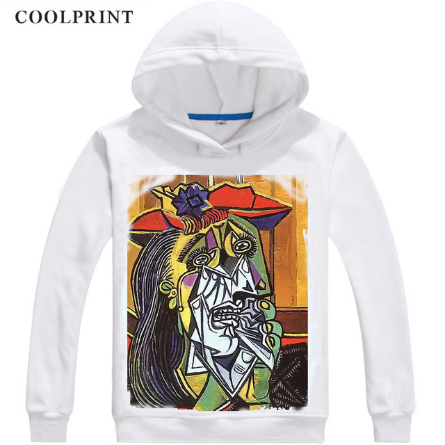 Pablo Picasso Hoodies Hooded Hoodie Oil Painting The Mackerel A Rooster Dove of Peace The Absinthe Drinker Cosplay Sweatshirts