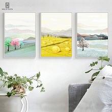 True-life Four Seasons Landscape Spring Summer Autumn Winter Scene HD Pattern Unframed Decorative Painting For Home Decor
