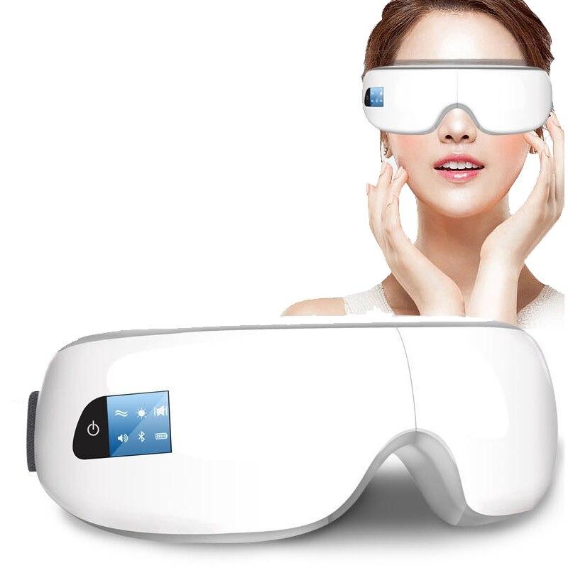 Массаж глаз SPA инструмент Электрический давление воздуха массажер для глаз музыка заряд Беспроводной вибрации Магнитная Отопление массаж ...