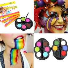 Rainbow Body Paint Color Popfeel Brand Make Up Palette Neon Glowing Face Painting Temporary Tattoo Schmink Halloween Makeup Set