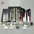 Chrome Latch Saddlebag Lids Hardware Cover Kit for Harley Touring Saddlebag Lids