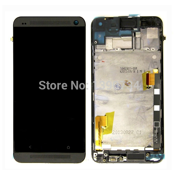 ФОТО 100% GOOD Working LCD Display+Touch Screen Digitizer Assembly+Black Frame For HTC One M7 801E Mobile Phone Repair Replacement