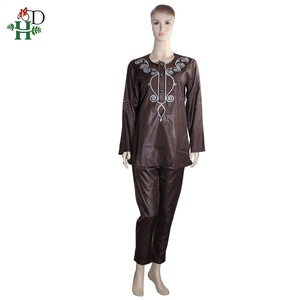 Image 5 - H&D 2020 African Women Dress South Africa Suits For Women Bazin Riche Embroidery Dashiki Shirt Pant Set Outfit Suit Clothes Robe