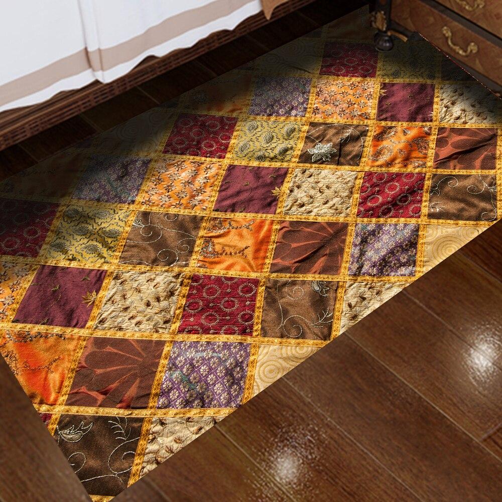 Silk Turkey Carpet Sticker Waterproof Twill Film Easy to Clean Self-Adhesive Anti-Slip DIY Kitchen Bathroom Decor CA011