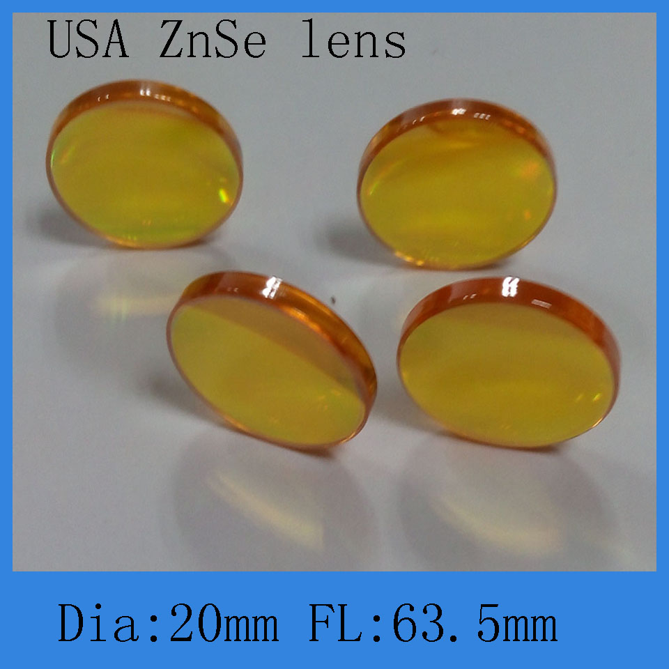 Co2 Lasercutting &engraving Machine  Focus Lens USA Znse Material  20 Mm Diameter 38.1, 50.8,63.5 ,76,100,127,190mm Focus Length