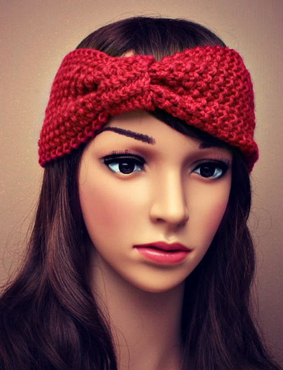 1pc BOHO Style <font><b>Women</b></font> Warm wool Bow Headband Crochet Turban For Hair accessories Girl <font><b>scorn</b></font> kernels knitted <font><b>Women</b></font> Headwrap