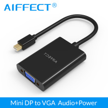 AIFFECT Mini DP DisplayPort To VGA Adapter Converter Cable with Audio 1080P HD for Apple MacBook Air Pro iMac Mac HDTV projector цена и фото