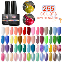MEET ACROSS Gel Nail Polish 8ml Glitter Lak Soak Off Pure Uv Color Paint Varnish Art Lacquer