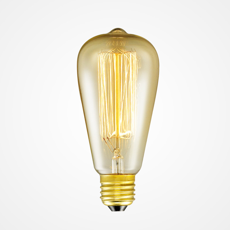 ST64 Bulb Vintage Edison Lights Bulbs E26/27 Base 220V Incandescent Bulbs 40W Antique Warm Light Bulb For Home Pendant Light Dec