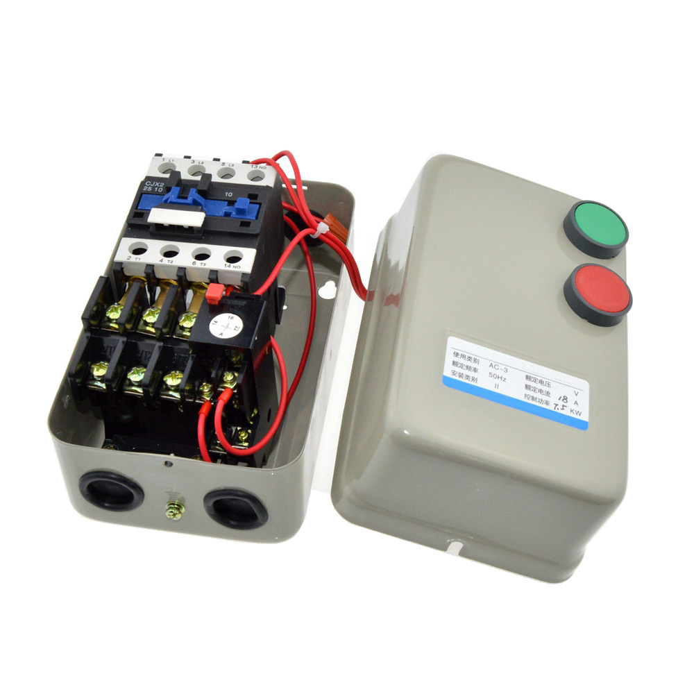 цены  220V Coil Voltage AC Contactor 7.5KW / 10HP Power 14-22A Current Three Phase Magnetic Starter Motor Controller