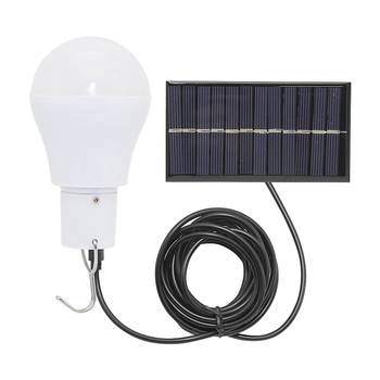Portable LED Solar Lamp Energy Saving White Light 5V Solar Panel Powered Hanging Bulb For Outdoor Garden Camping Tent Fishing