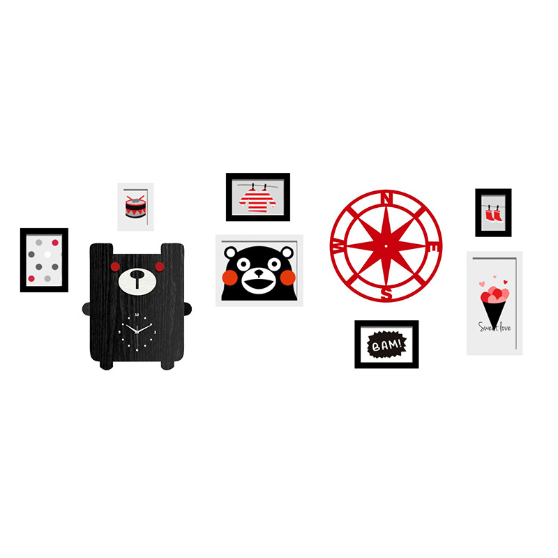 Kumamoto Bear Photo Frame Set Wall Mounted Multi-frame Picture Frames Wall For Picture Painting  Photo Collage Photo Frame KitsKumamoto Bear Photo Frame Set Wall Mounted Multi-frame Picture Frames Wall For Picture Painting  Photo Collage Photo Frame Kits