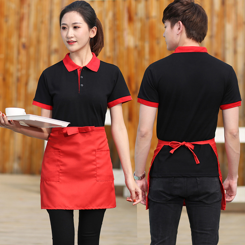 Sleeveless Half-Length Apron Fashion Kitchen Short Waist Apron Catering Chef Waiter Bar Aprons Cook Work Clothes Accessories